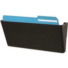 Deflecto EZ Link Stackable DocuPocket - 1 Pocket(s) - Black - Polystyrene - 1 Each