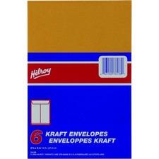 "Hilroy Kraft Envelope - #2 - 9"" Width x 5 7/8"" Length - 24 lb - Kraft - 1 / Pack"