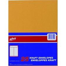 "Hilroy Kraft Envelope - #7 - 12"" Width x 9"" Length - 24 lb - Kraft - 25 / Pack"