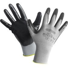 FLEXSOR Work Gloves - Nitrile Coating - Large Size - Nylon - Abrasion Resistant, Latex-free - 12 / Box