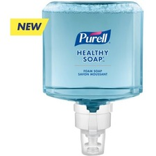 PURELL® PURELL HEALTHY SOAP Mild Foam - Fragrance-free Scent - 1.20 L - Dirt Remover, Bacteria Remover - Hand - Dye-free, Phthalate-free, Paraben-free, Triclosan-free - 2 / Pack