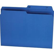 """Offix 1/2 Tab Cut Letter Top Tab File Folder - 8 1/2"""" x 11"""" - Blue - 100 / Box"""