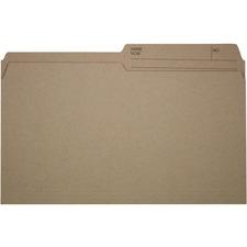 """Offix 1/2 Tab Cut Legal Top Tab File Folder - 8 1/2"""" x 14"""" - Kraft - 200 / Box"""