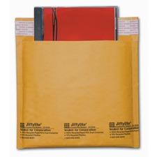 "Sealed Air Jiffylite"" Bubble Mailing Envelope - CD/DVD - Peel & Seal - Kraft Paper, Plastic - 1 Each"