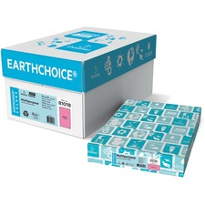 """Domtar EarthChoice Colored Paper - Cherry - Tabloid - 11"""" x 17"""" - 20 lb Basis Weight - 500 / Pack"""