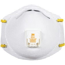 3M 8511 N95 Particulate Respirator With Cool-Flow Valve - Recommended for: Sanding, Grinding, Woodworking, Sweeping, Drywall - Disposable, Stretchable, Comfortable, Adjustable Headband, Adjustable Nose Clip, Soft, Lightweight, Breathable, Filter, Hanging