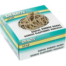 """Dixon Star Elastic Rubber Bands - 62.50 mil (1.59 mm) Width - 5"""" (127 mm) Thickness - Latex-free - 1 Each - Rubber"""