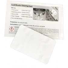 ICONEX Cleaning Card - For Credit Card, Magnetic Card Reader - Presaturated, Disposable - 2 / Pack