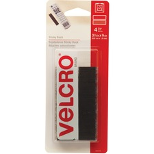 "VELCRO® Fasteners - 3.50"" (88.9 mm) Length x 0.75"" (19.1 mm) Width - 4 / Pack - Black"