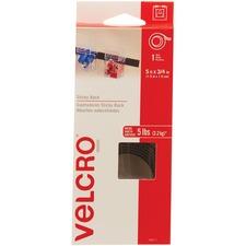"VELCRO® Self-Adhesive Strips - 5 ft (1.5 m) Length x 0.75"" (19.1 mm) Width - 1 Each - Black"