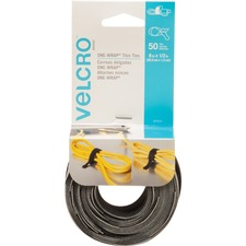 VELCRO® Reusable Ties - Black, Gray - 1 Pack - 11.34 kg Loop Tensile