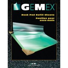 "Gemex Desk Pad Refill Sheets - Rectangle - 20"" (508 mm) Width - PVC Vinyl - Clear"