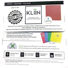 KLIIN All-Purpose Cleaning Cloth - Red - Reusable, Washable, Compostable, Biodegradable - For Multipurpose - 10 / Pack
