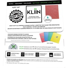 KLIIN All-Purpose Cleaning Cloth - Assorted - Reusable, Washable, Biodegradable, Compostable - For Multipurpose - 12 / Pack
