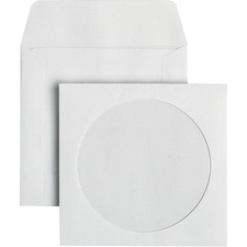 "Supremex CD Window Envelopes - CD/DVD - 5"" Width x 4 7/8"" Length - 24 lb - 1000 / Box - White Wove"