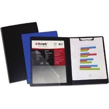 """Duraply Folding Clipboard - 8 1/2"""" x 11"""" - Polypropylene - Blue - 1 Each"""