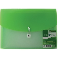 "EcoOffice Letter Expanding File - 8 1/2"" x 11"" - 7 Pocket(s) - Polypropylene - 1 Each"