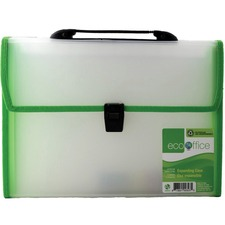 "EcoOffice Letter Expanding File - 8 1/2"" x 11"" - 13 Pocket(s) - Polypropylene - 1 Each"