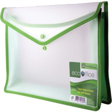 "EcoOffice Letter File Wallet - 8 1/2"" x 11"" - 3"" Expansion - Polypropylene - 1 Each"