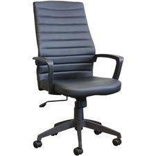 Horizon Activ A-128 Executive Chair - Black Fabric, High Density Foam (HDF) Seat - Black Fabric Back - High Back - 5-star Base - Armrest - 1 Each