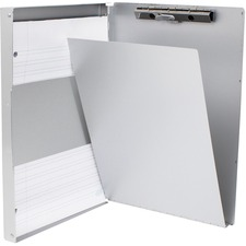 "Geocan Clipboard - 0.50"" Clip Capacity - Side Opening - Clamp - Aluminum - 1 Each"