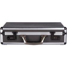 """bugatti Carrying Case (Attaché) for 17.3"""" Notebook, Tablet - Gun Metallic, Black - Aluminum, Polyfoam - 13"""" (330.20 mm) Height x 18"""" (457.20 mm) Width x 5"""" (127 mm) Depth - 1 Pack"""