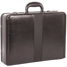 "bugatti Carrying Case (Attaché) for 17.3"" - Black - Bonded Leather - 12.75"" (323.85 mm) Height x 18"" (457.20 mm) Width x 4"" (101.60 mm) Depth - 1 Pack"