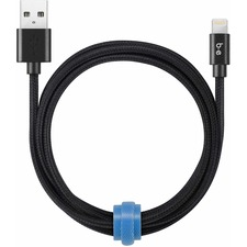 Blu Element Braided Charge/Sync Lightning to USB Cable 4ft Black - 4 ft Lightning/USB Data Transfer Cable for Wall Charger, Car Charger - First End: 1 x Lightning Male Proprietary Connector - Second End: 1 x Male USB - Black - 1 Each