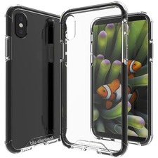 Blu Element DropZone Rugged Case Black for iPhone XS/X - For Apple iPhone XS, iPhone X Smartphone - Black, Clear - Scratch Resistant, Impact Resistant, Shock Absorbing, Anti-scratch, Drop Resistant - Polycarbonate, Thermoplastic Polyurethane (TPU) - 1