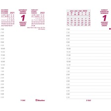 Brownline Calendar Refill - Daily - 7:00 AM to 5:30 PM - Half-hourly - 1 Day Double Page Layout - 1 Each