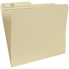 """Pendaflex 1/2 Tab Cut Letter Recycled Top Tab File Folder - 8 1/2"""" x 11"""" - 3/4"""" Expansion - Manila - 10 / Pack"""