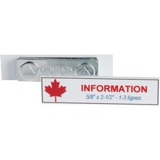 """Derome Colour Printed Badge with Magnet - 1 Each - 2.50"""" (63.50 mm) Width x 0.63"""" (15.88 mm) Height - Magnetic"""