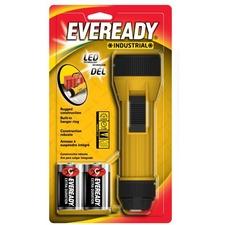 Eveready Industrial 2D LED Flashlight, Yellow - D - PolypropyleneBody - Yellow