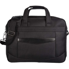 "bugatti Carrying Case (Briefcase) for 15.6"" Computer, Tablet, Accessories - Black - 600D Nylon, Synthetic Leather - Shoulder Strap, Handle - 12"" (304.80 mm) Height x 18"" (457.20 mm) Width x 6"" (152.40 mm) Depth - 1 Pack"