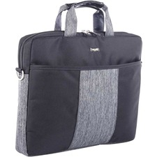 "bugatti Carrying Case (Briefcase) for 15.6"" Notebook - Black, Gray - Polyester - Shoulder Strap - 11.50"" (292.10 mm) Height x 15.50"" (393.70 mm) Width x 1.75"" (44.45 mm) Depth - 1 Pack"