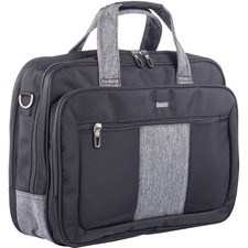 "bugatti Carrying Case (Briefcase) for 17.3"" - Black, Gray - Polyester - Shoulder Strap, Handle - 11.50"" (292.10 mm) Height x 15.50"" (393.70 mm) Width x 1.75"" (44.45 mm) Depth - 1 Pack"