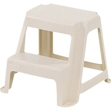 """Rubbermaid Stool - 2 Step - 136.08 kg Load Capacity - 18.50"""" (469.90 mm) x 18.25"""" (463.55 mm) x 16"""" (406.40 mm) - Putty"""