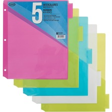 Geocan 5 Plastic Dividers with Pocket - 5 x Divider(s) - Assorted Plastic Divider - 1 Each