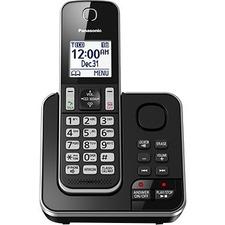 Panasonic KX-TGD390 DECT 6.0 1.93 GHz Cordless Phone - Black - Cordless - Corded - 1 x Phone Line - 1 x Handset - Speakerphone - Answering Machine - Hearing Aid Compatible