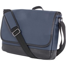 "bugatti Carrying Case (Briefcase) for 14"" Notebook - Navy - Polyurethane - Shoulder Strap - 10.50"" (266.70 mm) Height x 15"" (381 mm) Width x 3"" (76.20 mm) Depth - 1 Pack"
