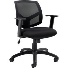 Offices To Go Bolt   Mesh Back Tilter - Black Fabric Seat - Black Mesh Back - Mid Back - 5-star Base - Armrest - 1 Each
