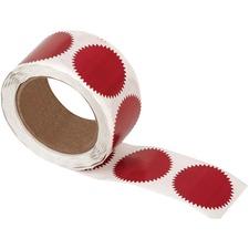 Merangue Self-Adhesive Notary Seals - Red - 500 / Pack