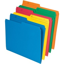 "Pendaflex 1/2 Tab Cut Letter Top Tab File Folder - 8 1/2"" x 11"" - Assorted - 25 / Pack"