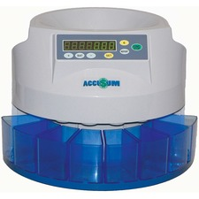 Accusum Coin Sorter - 500 Coin Capacity - Counts 200 coins/min