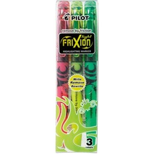 Pilot FriXion® Light Erasable Highlighter - Chisel Marker Point Style - Assorted - Rubber Tip - 1 / Pack