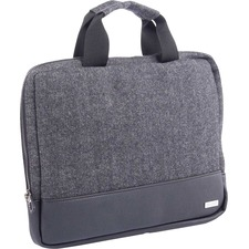 """bugatti Carrying Case (Sleeve) for 14"""" Tablet - Gray, Black - Polyester - Herringbone Pattern - 10"""" (254 mm) Height x 13.25"""" (336.55 mm) Width x 1"""" (25.40 mm) Depth - 1 Pack"""