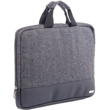 """bugatti Carrying Case (Sleeve) for 15.6"""" Notebook - Black - Polyester - Herringbone Pattern - 12"""" (304.80 mm) Height x 16"""" (406.40 mm) Width x 1.25"""" (31.75 mm) Depth - 1 Pack"""