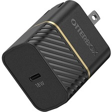 OtterBox USB-C Fast Charge Wall Charger - Premium - 1 Pack - 120 V AC, 230 V AC Input - 5 V DC/3 A, 9 V DC Output - Black Shimmer