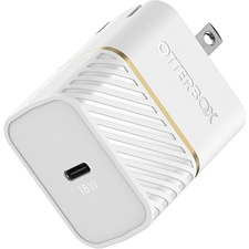 OtterBox USB-C Fast Charge Wall Charger - Premium - 120 V AC, 230 V AC Input - 5 V DC/3 A, 9 V DC Output - Cloud Dust White