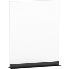 Lorell acrylic freestanding barrier with aluminum base